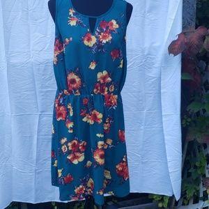 Market & Spruce green floral dress floral  1x xl